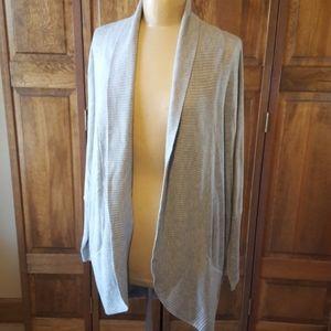 RD Style Long, Gray Cardigan, Sz XL